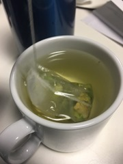 Brussels sprout tea - brewed