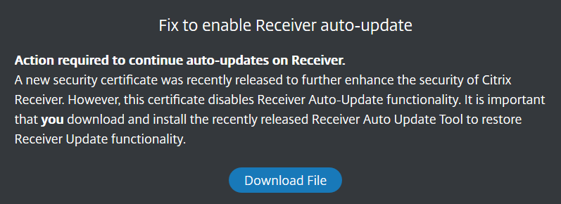 Citrix auto update