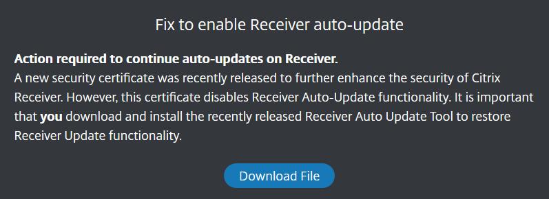 Citrix auto update